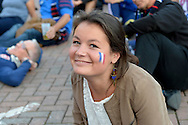 a France supporter  outside Twickenham before k/o. Rugby World Cup 2015 pool D match, France v Italy at Twickenham Stadium in London on Saturday 19th September 2015.<br /> pic by John Patrick Fletcher, Andrew Orchard sports photography.
