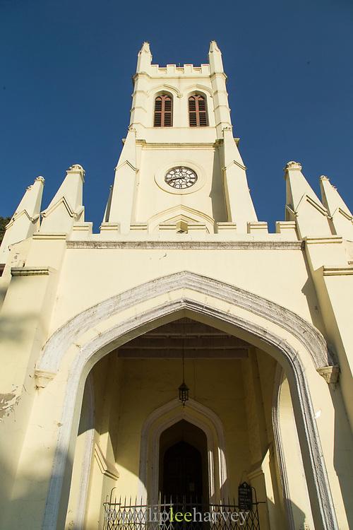Low angle view of Christ Church, Shimla, India