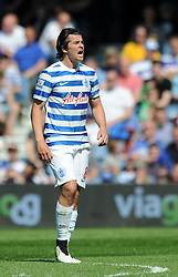 Caption Correction: Queens Park Rangers' Joey Barton shouts at his team mates after QPR concede a goal - Photo mandatory by-line: Dougie Allward/JMP - Mobile: 07966 386802 - 16/05/2015 - SPORT - football - London - Loftus Road - QPR v Newcastle United - Barclays Premier League