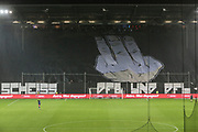 Fuusball: 2. Bundesliga, FC St. Pauli - Hamburger SV 2:0, Hamburg, 16.09.2019<br /> Choreographie: St. Pauli-Fans, Scheiss DFB und DFL<br /> © Torsten Helmke