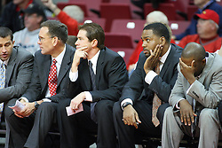 19 November 2011:  Rob Judson, Tim Jankovich, Paris Parham and Anthony Beane during an NCAA mens basketball game between the Lipscomb Bison and the Illinois State Redbirds in Redbird Arena, Normal IL