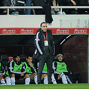 Besiktas's coach Carlos CARVALHAL during their Turkish Superleague Derby match Besiktas between Galatasaray at the Inonu Stadium at Dolmabahce in Istanbul Turkey on Sunday, 20 November 2011. Photo by TURKPIX