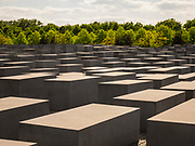 The Holocaust Memorial in Berlin. A memorial to the murdered Jews of Europe