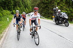 Jack Haig (AUS) of Orica - Scott, Giovanni Visconti (ITA) of Bahrain-Merida and Rafal Majka (POL) of Bora - Hansgrohe during Stage 3 of 24th Tour of Slovenia 2017 / Tour de Slovenie from Celje to Rogla (167,7 km) cycling race on June 16, 2017 in Slovenia. Photo by Vid Ponikvar / Sportida