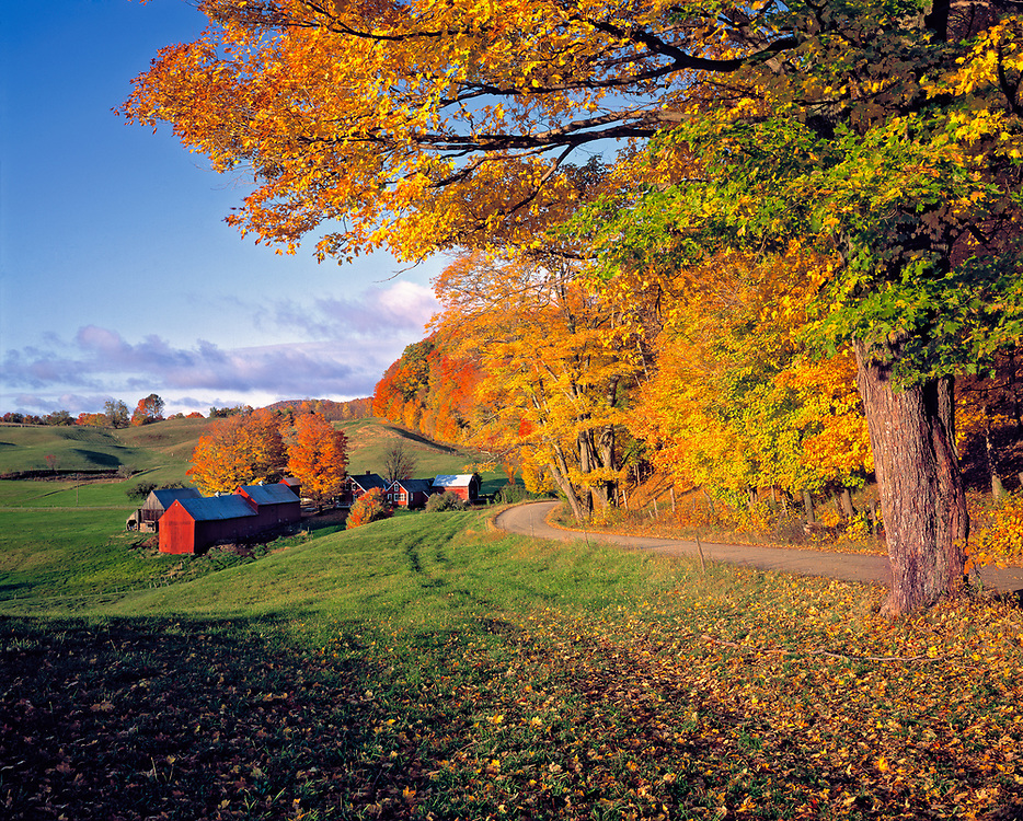 Fall comes to Jenne Farm, south of Woodstock in pastoral Vermont.
