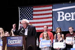 May 5, 2019 - Sioux City, IOWA, USA - U.S. Sen. BERNIE SANDERS (I-VT) campaigns for his 2020 presidential run at the Orpheum Theatre in Sioux City, Iowa Sunday evening, May 5, 2019. (Credit Image: © Jerry Mennenga/ZUMA Wire)