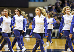 Nov 28, 2018; Morgantown, WV, USA; The West Virginia Mountaineers dance team performs during the first half against the Rider Broncs at WVU Coliseum. Mandatory Credit: Ben Queen-USA TODAY Sports