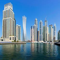 Skyscrapers at Marina district in Dubai United Arab Emirates