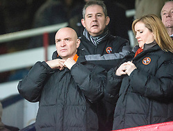 Dundee United's chairman Stevie Thomson in the stand before the game. <br /> Dundee 2 v 1  Dundee United, SPFL Ladbrokes Premiership game played 2/1/2016 at Dens Park.