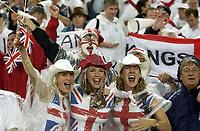 Photo: Richard Lane.<br />Australia v England. Rugby World Cup Final, at the Telstra Stadium, Sydney. RWC 2003. 22/11/2003. <br />England fans.