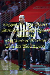 12 February 2011: Referee David Maracich during an NCAA Missouri Valley Conference basketball game between the Missouri State Bears and the Illinois State Redbirds at Redbird Arena in Normal Illinois.