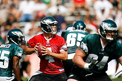 Philadelphia Eagles quarterback Kevin Kolb #4 during the Philadelphia Eagles NFL training camp in Bethlehem, Pennsylvania at Lehigh University on Saturday August 1st 2009. (Photo by Brian Garfinkel)