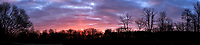Pillar of Light at Sunrise Panorama. Composite of 5 images taken with a Leica CL camera and 23 mm f/2 lens (ISO 200, 23 mm, f/11, 1/60 sec). Raw images processed with Capture One Pro and the composite created using AutoPano Giga Pro.