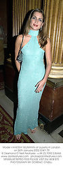 Model VANESSA NEUMANN at a party in London on 26th January 2002.OWY 79