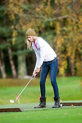 Miss USA Erin Cummins..The Miss World participants play golf at the world famous Gleneagles Hotel, host of The Ryder Cup 2014..MISS WORLD 2011 VISITS SCOTLAND.