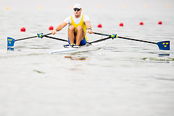 August 3, 2018 - Glasgow, UNITED KINGDOM - 180803 Anders Backeus of Sweden competes in the Men's Rowing Singe Sculls repechage during the European Championships on August 3, 2018 in Glasgow..Photo: Jon Olav Nesvold / BILDBYRÃ…N / kod JE / 160281 (Credit Image: © Jon Olav Nesvold/Bildbyran via ZUMA Press)
