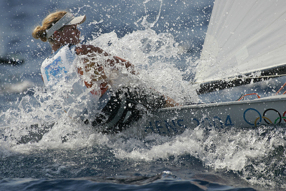 Europe Dinghy class NOR Sundby Siren<br /> Athens 2004 Olympic Games<br /> August 20<br /> © Daniel Forster