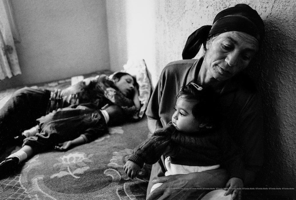 Romanian immigrants. Badalona, Spain.