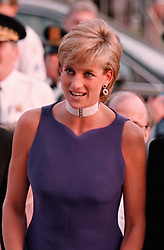 File photo dated 06/06/96 of Diana, Princess of Wales, at the Field Museum in Chicago wearing a Versace dress, to attend a fund raising Gala dinner.