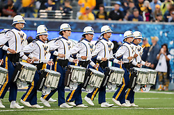 Sep 8, 2018; Morgantown, WV, USA; The West Virginia Mountaineers band performs prior to the game against the Youngstown State Penguins at Mountaineer Field at Milan Puskar Stadium. Mandatory Credit: Ben Queen-USA TODAY Sports