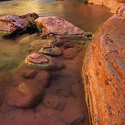 Havasu Creek flows into the mighty Colorado River at the bottom of the Grand Canyon, Grand Canyon National Park, Arizona.