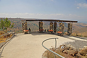 Observation point at Gamla nature reserve and Second Temple period Jewish city on the Golan Heights, Israel