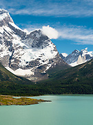 View of Valle Frances \and Torres del Paine National Park, Chile.