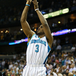 April 6, 2011; New Orleans, LA, USA; New Orleans Hornets point guard Chris Paul (3) during the first half against the Houston Rockets at the New Orleans Arena.   Mandatory Credit: Derick E. Hingle-US PRESSWIRE