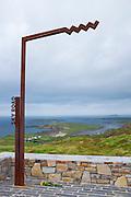 Wild Atlantic Way sign on the Sky Road, Clifden, Connemara, Galway, Ireland