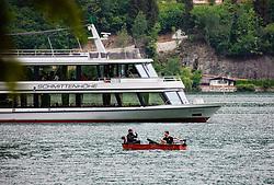 THEMENBILD - die MS Schmittenhöhe ist das größte Schiff auf dem Zell See, aufgenommen am 10. Mai 2018, Zell am See, Österreich // the MS Schmittenhöhe is the largest ship on the Zell See on 2018/05/10, Zell am See, Austria. EXPA Pictures © 2018, PhotoCredit: EXPA/ Stefanie Oberhauser