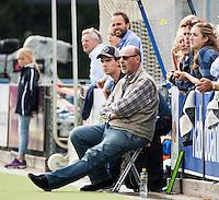UTRECHT - HOCKEY -  coach Toon Siepman (Oranje-Rood) met assistent coach Mark Dekker (Oranje-Rood)  tijdens  de hoofdklasse hockeywedstrijd dames Kampong-Oranje-Rood (0-5) .COPYRIGHT KOEN SUYK