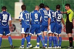 Players of Nafta at 7th Round of PrvaLiga Telekom Slovenije between NK Interblock vs NK Nafta Lendava, on September , 2008, in ZAK stadium in Ljubljana, Slovenia. Interblock won the match 3:1. (Photo by Vid Ponikvar / Sportal Images)
