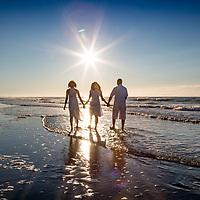 Rondo Family Beach Portraits at Sunrise