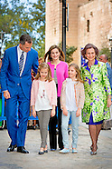 SPANISCH ROYALS ATTENDS EASTERN MASS IN PALMA DE MALLORCA 2016