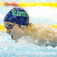 3 March 2012; Dylan Barrett, Ennis, in action during the Men's 200m Individual Medley B Final, during the Irish Long Course National Swimming Championships/Olympic Trials. National Aquatic Centre, Abbotstown, Dublin. Picture credit: Paul Mohan / SPORTSFILE *** NO REPRODUCTION FEE ***