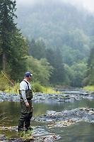 Fly fishing on the Oregon coast.