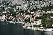 Charming coastal village of Dobrota, Kotor, Montenegro.