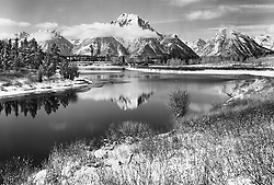 Snake River and Mt. Moran, Grand Teton National Park, WY seen from Oxbow Bend
