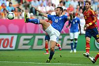"""Antonio CASSANO (Italia)<br /> Danzica 10/06/2012  """"GDANSK ARENA""""<br /> Football calcio Europeo 2012  Spagna Vs Italia <br /> Football Calcio Euro 2012<br /> Foto Insidefoto Alessandro Sabattini"""