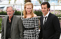 Director Philip Kaufman, Actress Nicole Kidman and actor Clive Owen at the Heminway & Gellhorn photocall at the 65th Cannes Film Festival France. Friday 25th May 2012 in Cannes Film Festival, France.