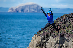 18MAY21 Mollie jumps. Matt out with Mollie Hughes and Stevie Boyle, Coasteering with Ocean Vertical at Dunbar.