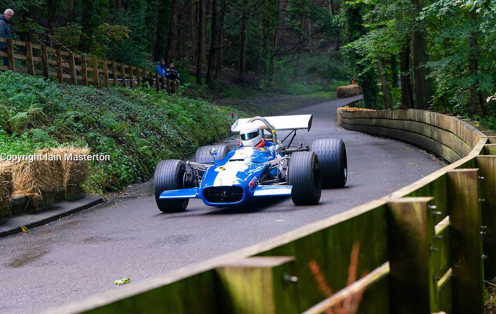 Boness Revival hillclimb motorsport event in Boness, Scotland, UK. The 2019 Bo'ness Revival Classic and Hillclimb, Scotland's first purpose-built motorsport venue, it marked 60 years since double Formula 1 World Champion Jim Clark competed here.  It took place Saturday 31 August and Sunday 1 September 2019. 68 Roger Deans Lola T142