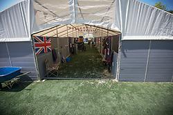 Stable area<br /> WEG Test event dressage - Caen 2014<br /> © Hippo Foto - Leanjo de Koster