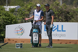 March 21, 2018 - Austin, TX, U.S. - AUSTIN, TX - MARCH 21: Thomas Pieters (BEL) looks over the fairway with his caddie during the First Round of the WGC-Dell Technologies Match Play on March 21, 2018 at Austin Country Club in Austin, TX. (Photo by George Walker/Icon Sportswire) (Credit Image: © George Walker/Icon SMI via ZUMA Press)