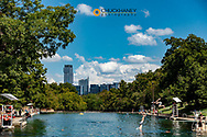 Swimming at Barton Springs Pool in Austin, Texas, USA