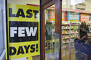 The last day of liquidated trading for shoppers in the closing Camberwell branch of Woolworths.
