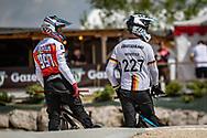 2021 UCI BMXSX World Cup 1&2<br /> Verona (Italy)<br /> Friday Practice<br /> ^me#997 SCHAUB, Philip (GER, ME) German National Team<br /> ^me#227 WEBSTER, Liam (GER, ME) Moto-Sheets