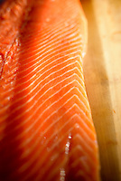 uncooked fresh salmon fillet