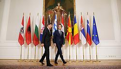"""24.09.2016, Bundeskanzleramt, Wien, AUT, Gipfeltreffen unter dem Titel """"Migration entlang der Balkanroute"""", im Bild v.l.n.r. Premierminister Slowenien Miro Cerar und Bundeskanzler Christian Kern (SPÖ) // f.l.t.r. Primeminister of Slovenia Miro Cerar and Federal Chancellor of Austria Christian Kern during """"Migration along the Balkan route"""" Summit in Vienna, Austria on 2016/09/24, EXPA Pictures © 2016, PhotoCredit: EXPA/ BKA/ Andy Wenzel <br /> <br /> ***** VOLLSTÄNDIGE COPYRIGHTNENNUNG VERPFLICHTEND // MANDATORY CREDIT *****"""