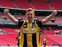 Football - 2019 / 2020 Buildbase FA Vase - Final - Consett vs Hebburn Town - Wembley Stadium<br /> <br /> Michael Richardson of Hebburn celebrates scoring goal no 2<br /> <br /> Credit : COLORSPORT/ANDREW COWIE